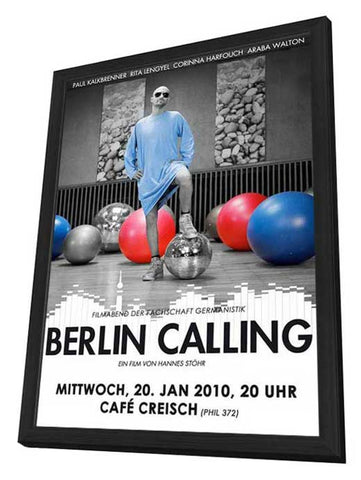 Berlin Calling 11 x 17 Movie Poster - German Style A - in Deluxe Wood Frame