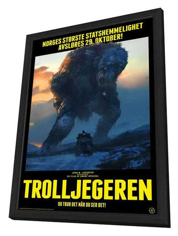 The Troll Hunter 11 x 17 Movie Poster - German Style A - in Deluxe Wood Frame