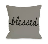 Blessed Mix & Match Throw Pillow by OBC 18 X 18