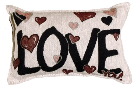 Simply Love You Tapestry Pillow