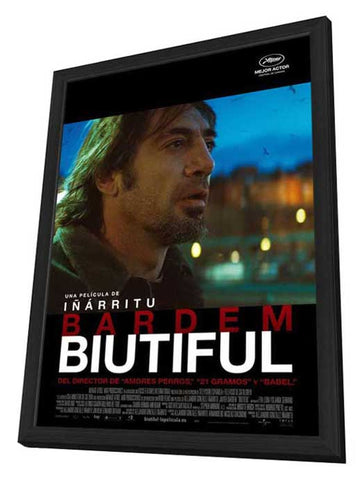 Biutiful 11 x 17 Movie Poster - Spanish Style B - in Deluxe Wood Frame