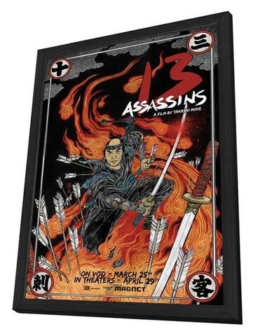 13 Assassins 11 x 17 Movie Poster - Style B - in Deluxe Wood Frame