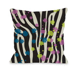 Party Zebra Throw Pillow by OBC 18 X 18