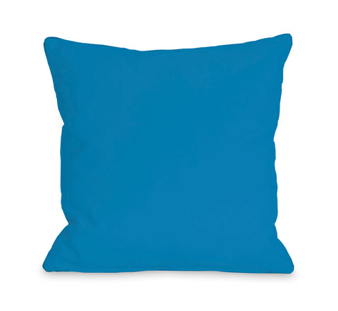 Solid - Bright Blue Lumbar Pillow by OBC 14 X 20