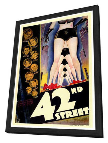 42nd Street 27 x 40 Movie Poster - Style A - in Deluxe Wood Frame