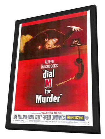 Dial M For Murder 27 x 40 Movie Poster - Style A - in Deluxe Wood Frame