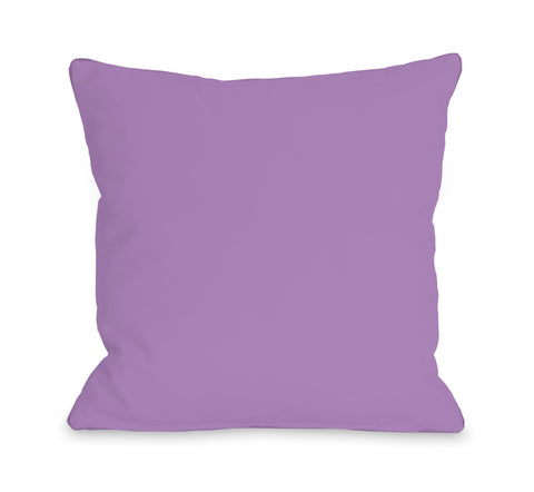 Solid - Princess Lavender Lumbar Pillow by OBC 14 X 20
