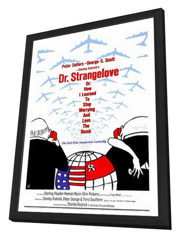 Dr. Strangelove 27 x 40 Movie Poster - Style A - in Deluxe Wood Frame