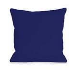 Solid - Whale Blue Throw Pillow by OBC 18 X 18