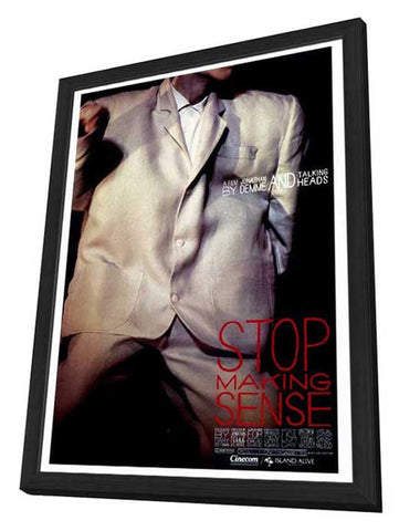 Stop Making Sense 27 x 40 Movie Poster - Style A - in Deluxe Wood Frame