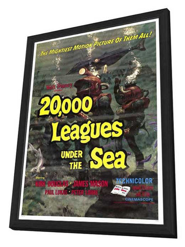 20,000 Leagues Under the Sea 27 x 40 Movie Poster - Style A - in Deluxe Wood Frame