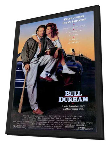 Bull Durham 27 x 40 Movie Poster - Style A - in Deluxe Wood Frame