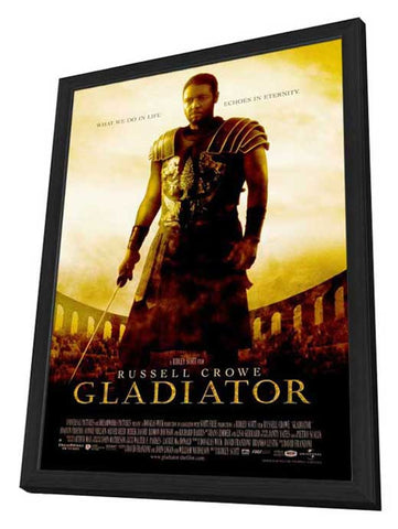 Gladiator 27 x 40 Movie Poster - Style A - in Deluxe Wood Frame