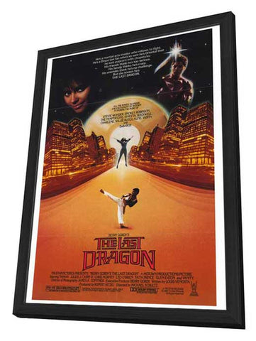 The Last Dragon 27 x 40 Movie Poster - Style A - in Deluxe Wood Frame