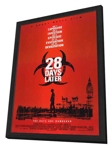 28 Days Later 27 x 40 Movie Poster - Style A - in Deluxe Wood Frame