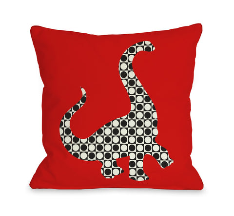 One Bella Casa Camasaurus Throw Pillow by OBC 16 X 16