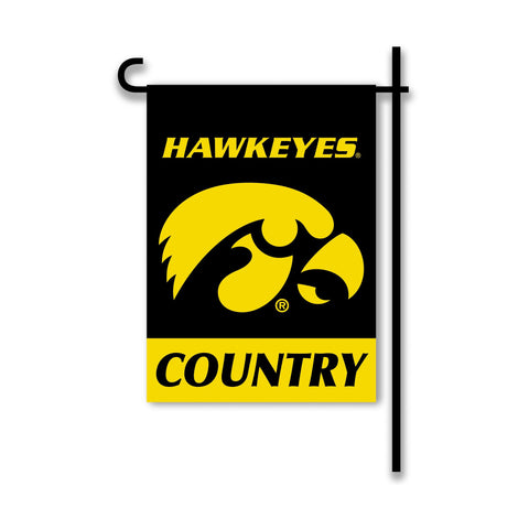 NCAA Iowa Hawkeyes 2-Sided Country Garden Flag, Team Color