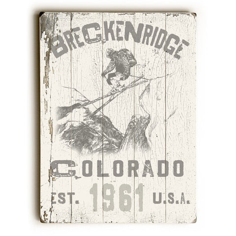 Artehouse Skiing - Breckenridge Reclaimed Wood Sign
