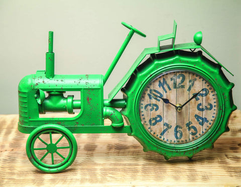 MWW Green Tractor Clock Each