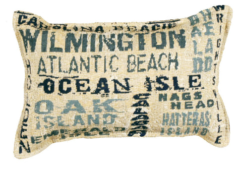 P80-999 Nc Shores 9 X 12 Tapestry Pillow
