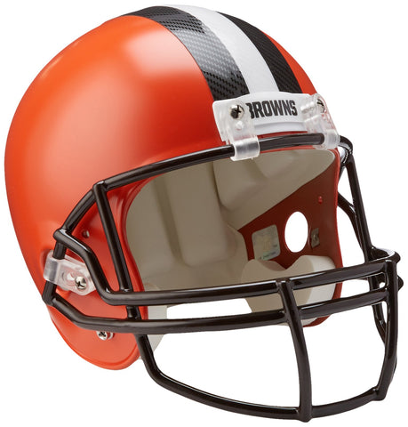 Riddell NFL Cleveland Browns Replica Full Size Helmet, Medium, Black/Orange