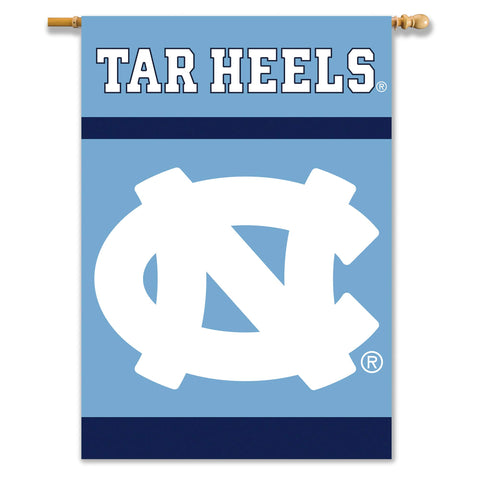 NCAA North Carolina Tar Heels 2-Sided 28-by-40 inch House Banner with  Pole Sleeve
