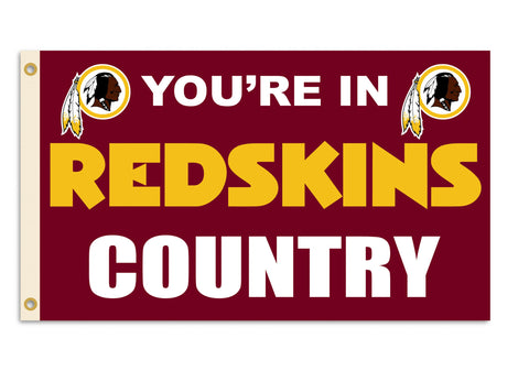 Fremont Die NFL Flag with Grommets, Washington Redskins, In Country