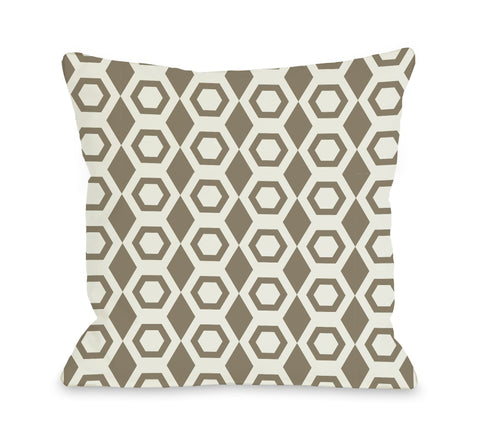 One Bella Casa Beehive Geometric Throw Pillow by OBC 18 X 18