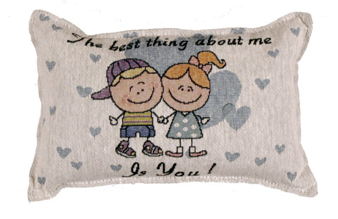 Simply About Me Tapestry Pillow