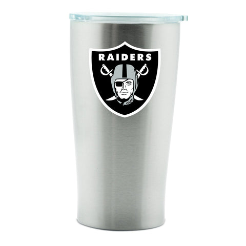 NFL Oakland Raiders 14oz Double Wall Stainless Steel Thermo Cup with Lid