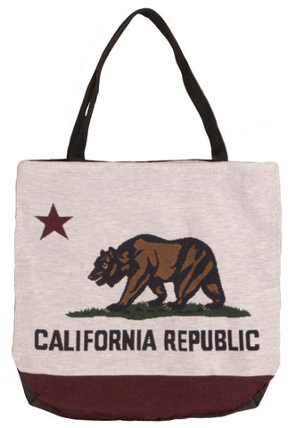 Simply Flag of California Tote Bag