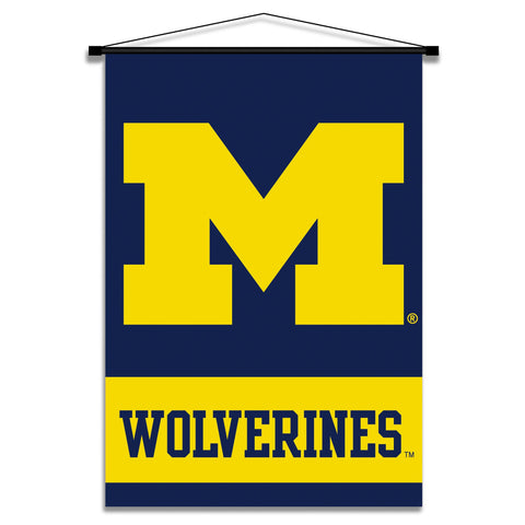 NCAA Michigan Wolverines 2-Sided 28 x 40-Inch Banner with Pole Sleeve, Team Color, One Size