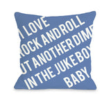 One Bella Casa Put Another Dime in The Jukebox Baby Throw Pillow by OBC 18 X 18