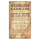 Red Horse Signs LLC Wranglers Wall Art - 15W x 26H in. Multicolor - PP-1072