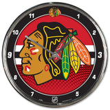 "NHL Chrome Clock, 12"" x 12"""