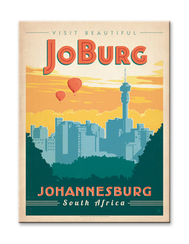 Johannesburg, South Africa Wood 23x31