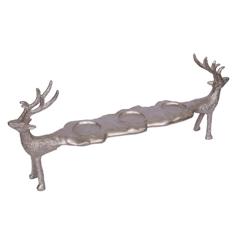 ArtFuzz 21x4.5x8 Reindeer 3-Light Votive Candle Holder