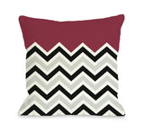 One Bella Casa Chevron Solid - Red Throw Pillow by OBC 16 X 16