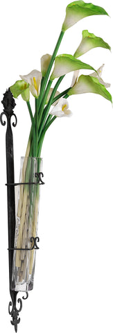 A&B Home Wendell Wall-Mounted Bud Vase, Set of 2, 4