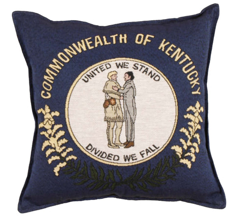 Simply Flag of Kentucky Tapestry Pillow
