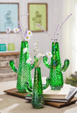 Gerson 94332 Wire Cactus Wall Art 3/Asst Home Decor 11.81InL x 0.98InW x 15.75InH Multicolor