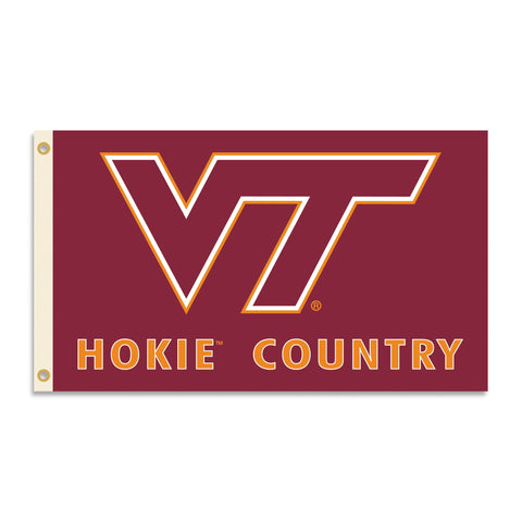 BSI NCAA Virginia Tech Hokies 3 x 5-Feet Country Flag with Grommets