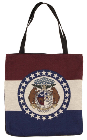 Simply Flag of Missouri Tapestry Tote Bag