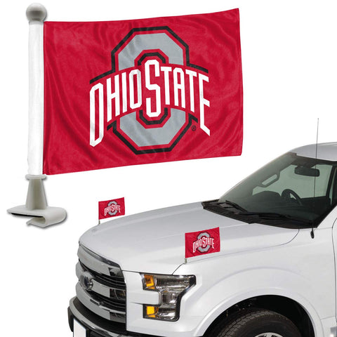 ProMark NCAA Ohio State Buckeyes Flag Set 2-Piece Ambassador Style, Team Color, One Size