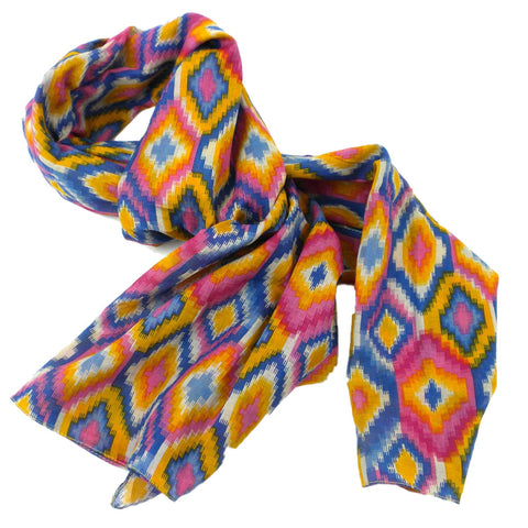 Asha Handicrafts IX5109-564040 Multicolored Kilim Cotton Scarf