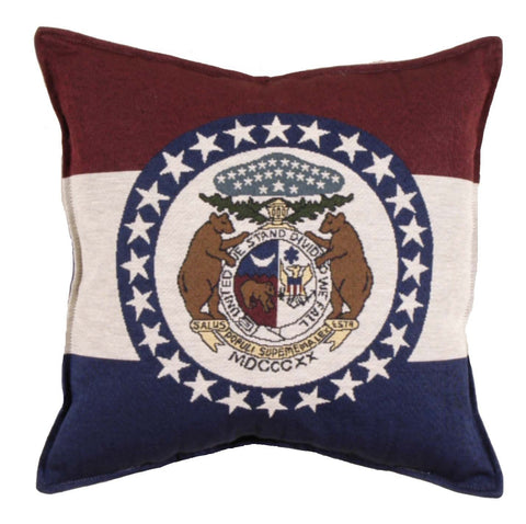 Simply Flag of Missouri Tapestry Pillow
