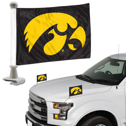 ProMark NCAA Iowa Hawkeyes Flag Set 2-Piece Ambassador Style, Team Color, One Size