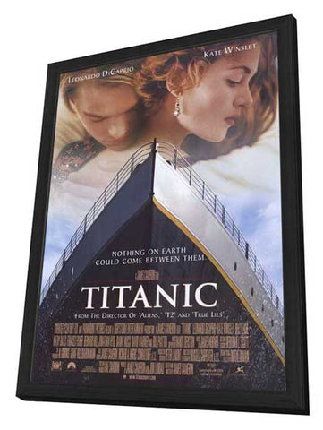 Titanic 27 x 40 Movie Poster - Style A - in Deluxe Wood Frame