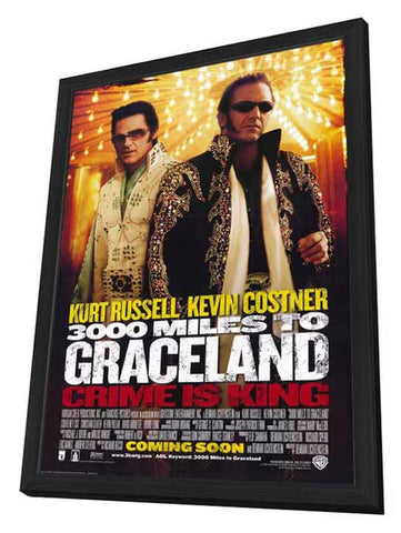 3000 Miles to Graceland 27 x 40 Movie Poster - Style A - in Deluxe Wood Frame