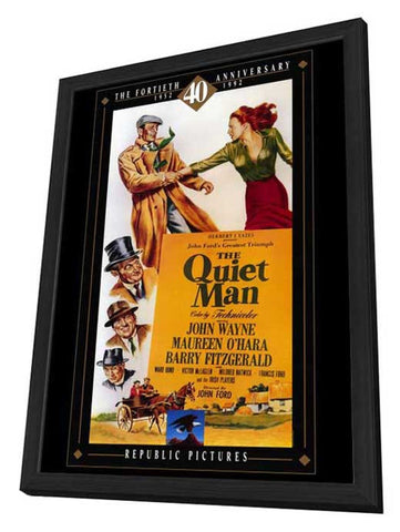 The Quiet Man 27 x 40 Movie Poster - Style B - in Deluxe Wood Frame
